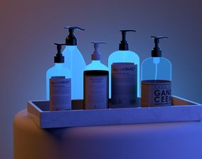 3D asset low-poly Handwash Bottles For Arch-Viz