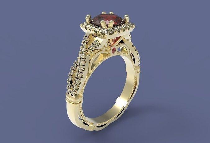 ring 53 3d model obj mtl stl 3dm 1