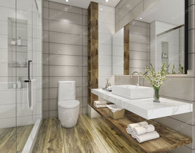 Modern luxury marble toilet 3D model 1
