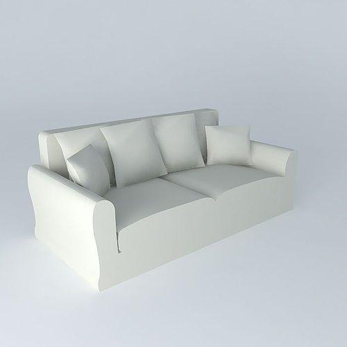 3 seater sofa sets linen bovary maisons du monde 3d model max obj 3ds fbx stl dae - Maison du monde sofas ...