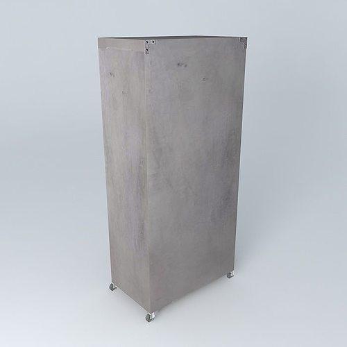 dressing gray loft maisons du monde 1 3d model cgtrader. Black Bedroom Furniture Sets. Home Design Ideas