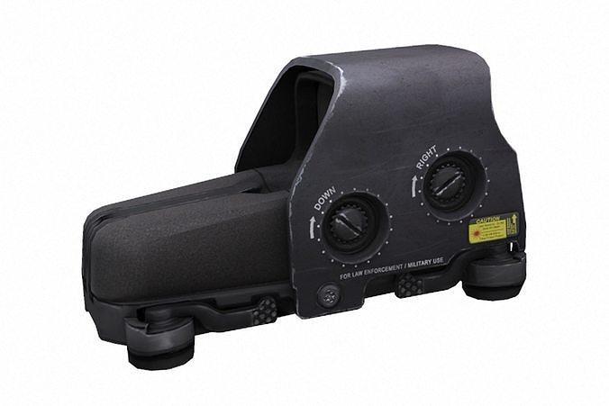 eotech 553 holosight 3d model obj mtl fbx blend 1