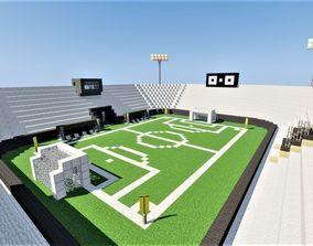 3D model Stadium Minecraft
