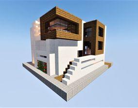 3D model Modern House Minecraft
