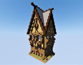 3D model Medieval House 2 Minecraft