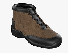 Low Poly Boot 3D asset
