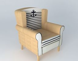 corsaire armchair houses of the world 3d