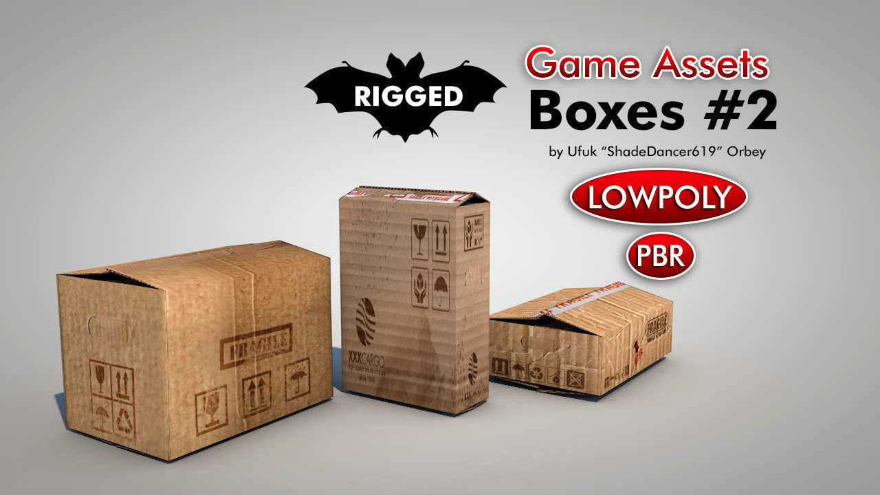 Game Ready Cardboard Boxes   3D model