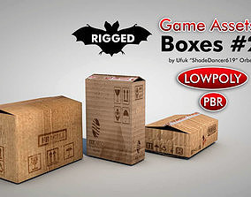 3D asset Game Ready Cardboard Boxes