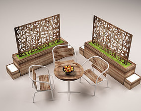 3D Garden chairs - vray