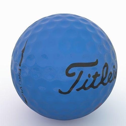 gilf ball blue 3d model max obj mtl 3ds fbx 1