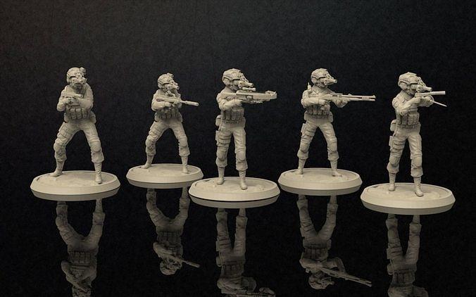 soldiers figure nightvision helmet set 3 3d model stl 1