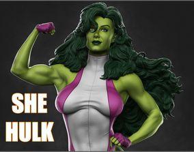 She Hulk 3D Model sculpture