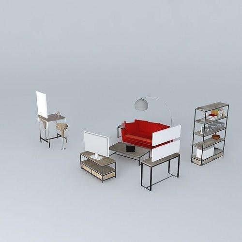 The Long Island living room Maisons du monde   3D model