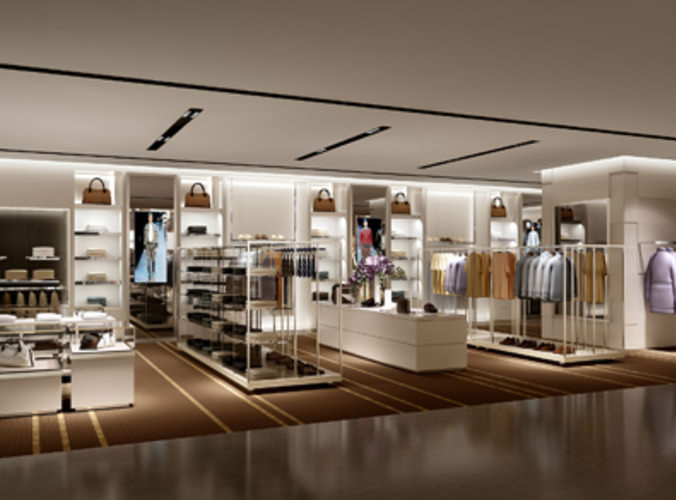 Clothes Store Shop 3d Cgtrader