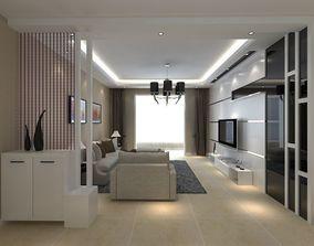 3D model Modern Living Dining Room 1