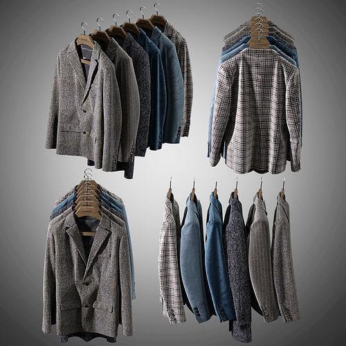 mens jackets 3d model max obj mtl fbx mat 1