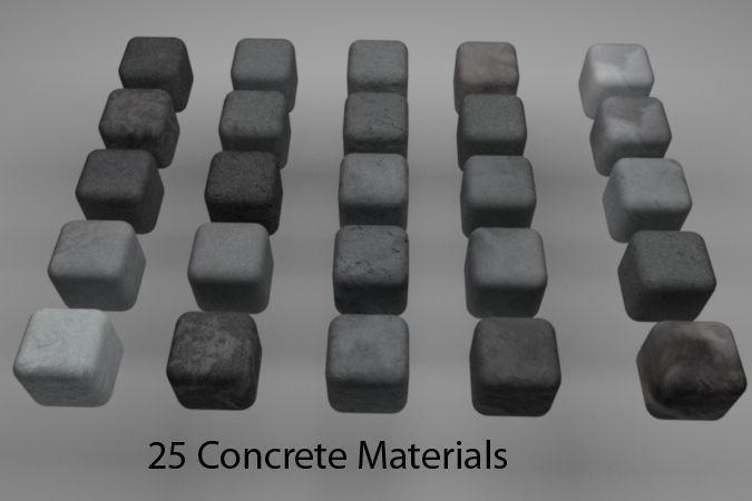 Concrete Materials Pack 2 for C4D R20   3D model
