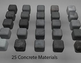 3D Concrete Materials Pack 2 for C4D R20