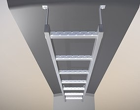 Vertical Wall Mount Ladder Low-Poly Version 3D model
