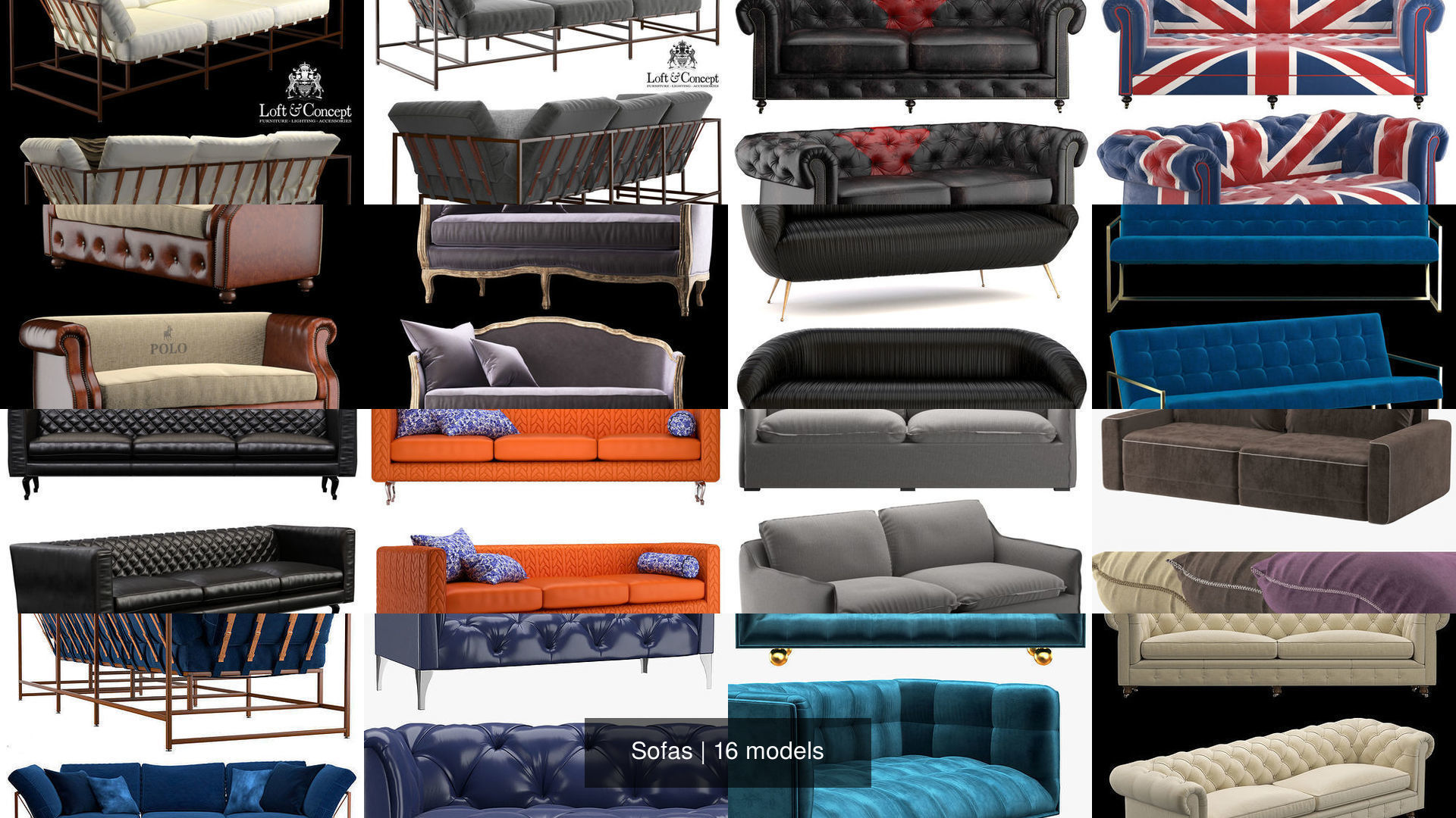 Sofas Settee 3d Model Cgtrader