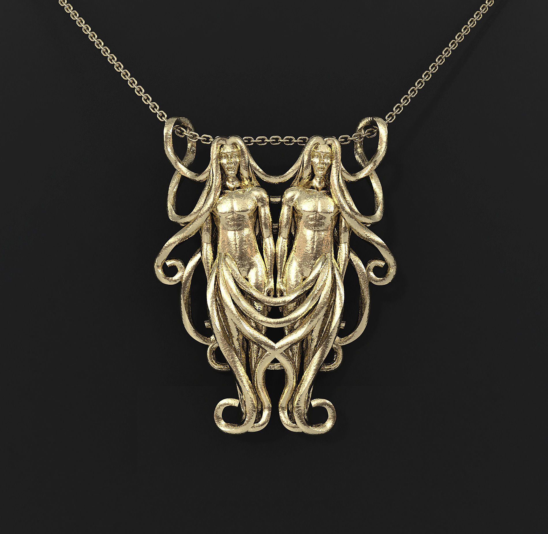 Gemini zodiac pendant 3d print model cgtrader gemini zodiac pendant 3d model stl 1 mozeypictures Gallery