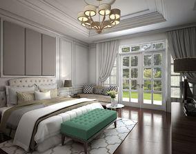 3D model Interior Bedroom American Classic