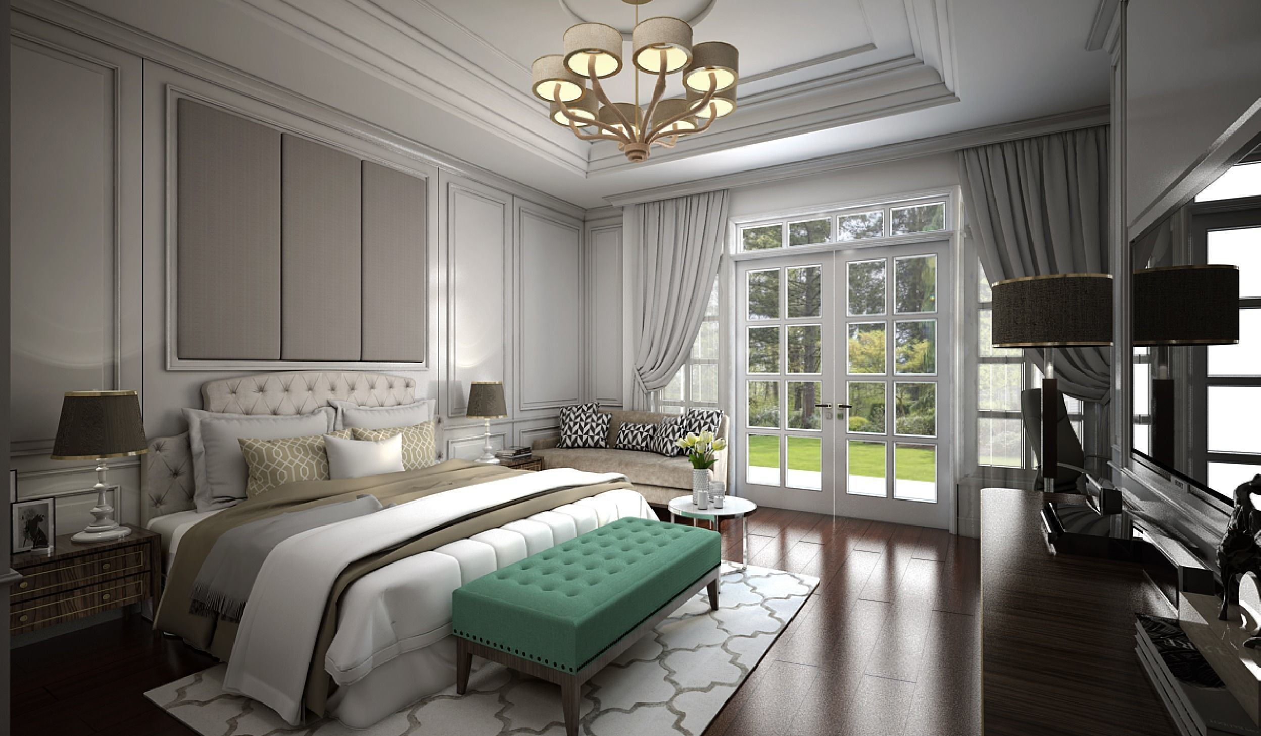 3D model Interior Bedroom American Classic   CGTrader on Model Bedroom Interior Design  id=89934