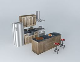 Kitchen island louvers World Houses 3D