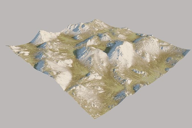 scottisch highland landscape surface 3d model max obj mtl fbx 1