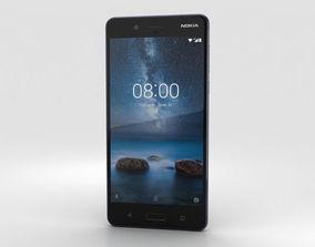 3D Nokia 8 Polished Blue