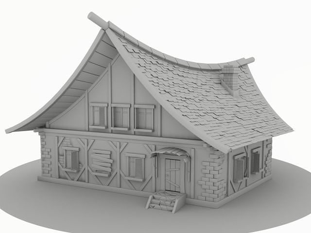 old home 3d model obj mtl hda hip bgeo geo bclip clip hipnc 1