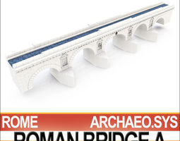 3D Imperial Ancient Roman Bridge A