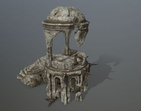 old temple 3D model game-ready