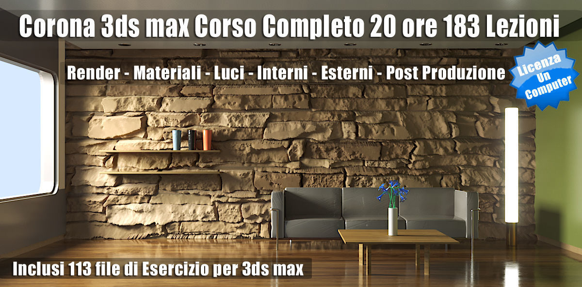 Corona 3ds max Guida Completa Subscription un Computer
