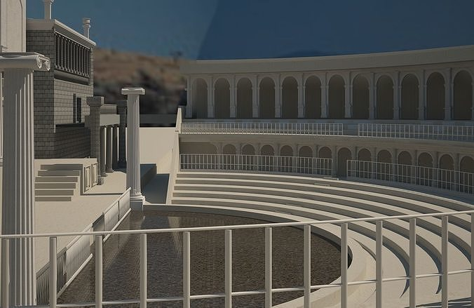 ancient theater 3d model max obj mtl fbx 1