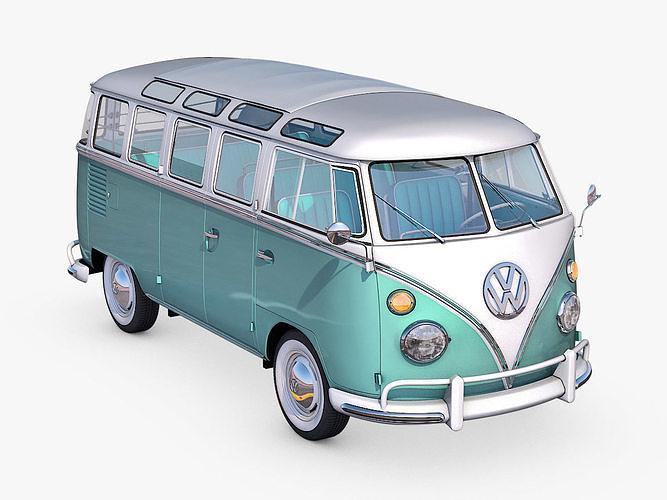 volkswagen t1 1951 3d model max fbx c4d ma mb dae 1