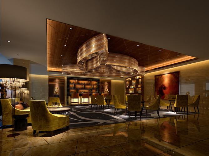 Hotel restaurant bar d cgtrader
