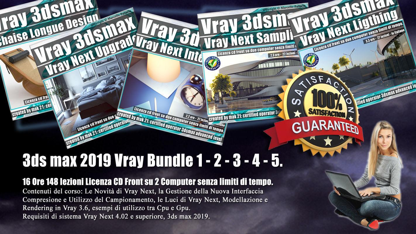 3ds max Vray Next Bundle 1 - 2 - 3 - 4 - 5   3D Model Collection