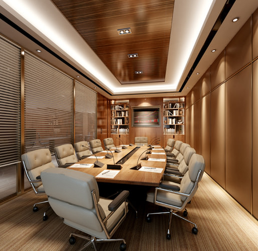 Modern conference room 3d cgtrader for Office design 3d mac