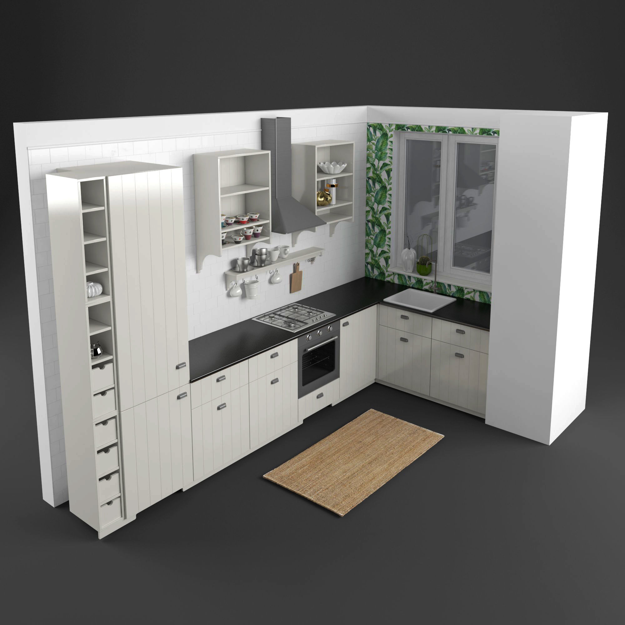 Ikea Kitchen Set 1 3d Model