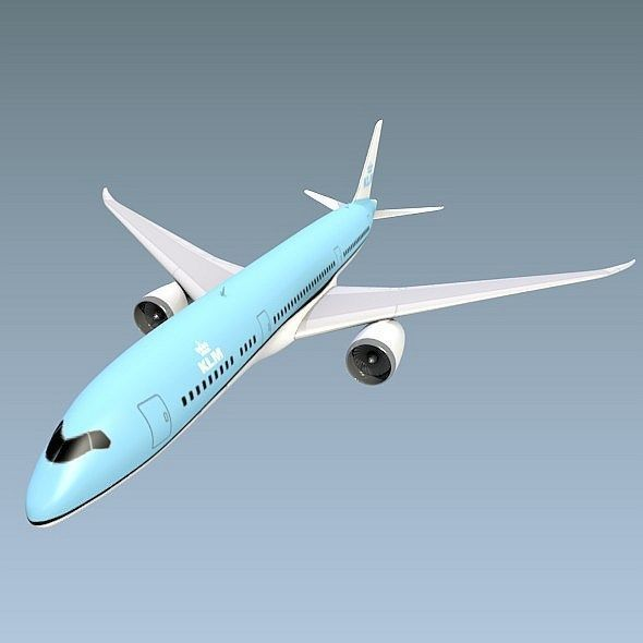 Boeing 787-9 lowpoly airliner