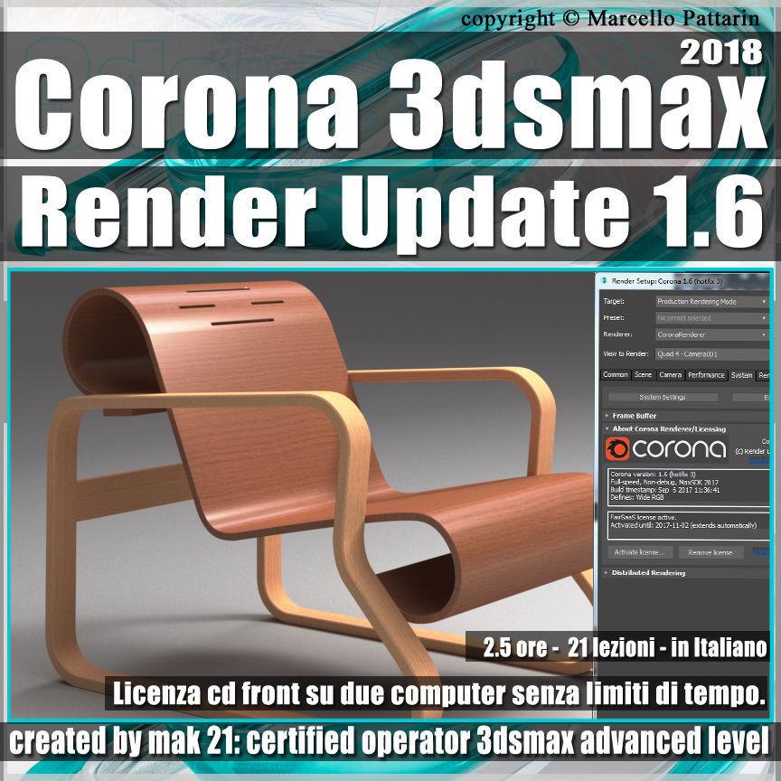 Corona 1 6 3dsmax 2018 Render Update Vol 4 Cd Front