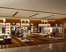 Clothing store shop 3D Model