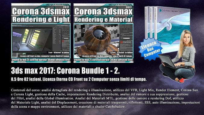 corona in 3dsmax 2017 bundle vol 1 e 2 cd front 3d model pdf 1
