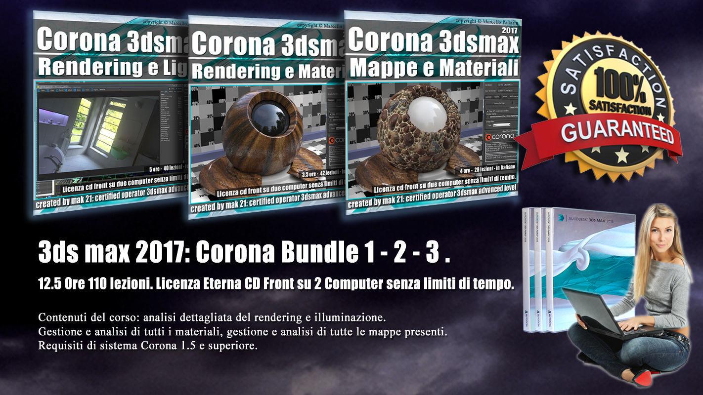 Corona in 3dsmax 2017 Bundle Vol 1 2  3  Cd Front