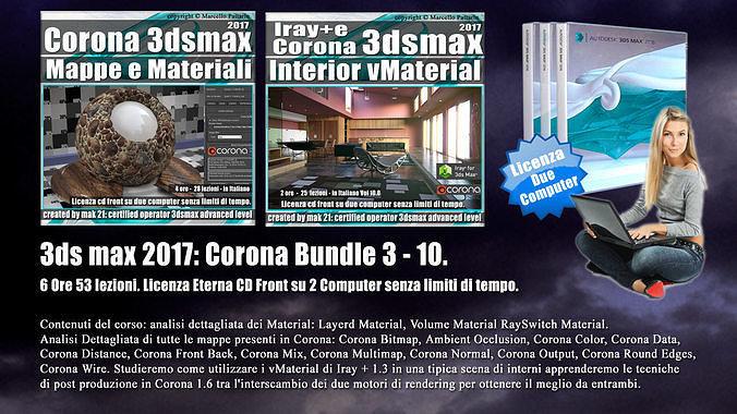 corona in 3dsmax 2017 bundle vol 3 e 10 cd front 3d model pdf 1