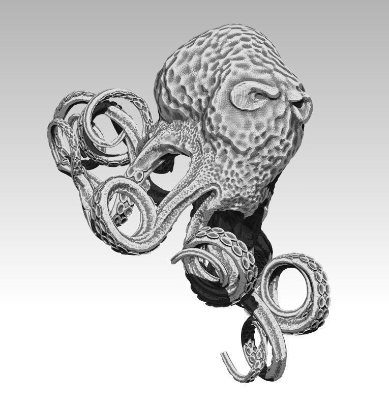 Octopus King Detailed Drawing 3d Print Model Cgtrader How to draw an octopus/hexapus(6 legs). octopus king detailed drawing 3d print model