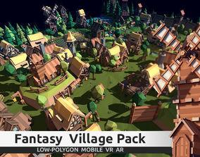 3D model TARBO - Lowpoly Fantasy Village Pack