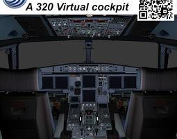 Airbus A-320 Virtual cockpit 3D asset